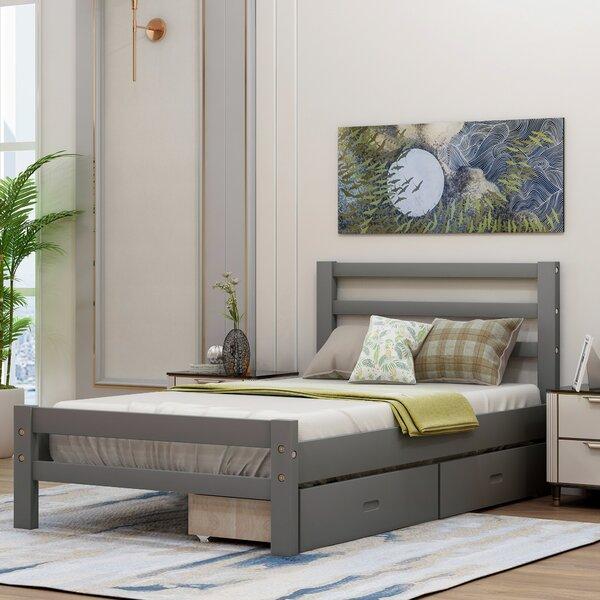 Gryta Solid Wood Storage Standard Bed by Latitude Run Latitude Run