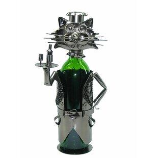 Cat Server 1 Bottle Tabletop Wine Rack by Wine Bodies