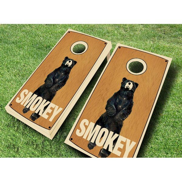 Retro Stained Smokey Cornhole Set by AJJ Cornhole