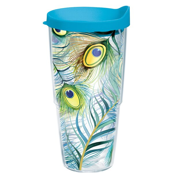 Garden Party Peacock Plastic Travel Tumbler by Tervis Tumbler