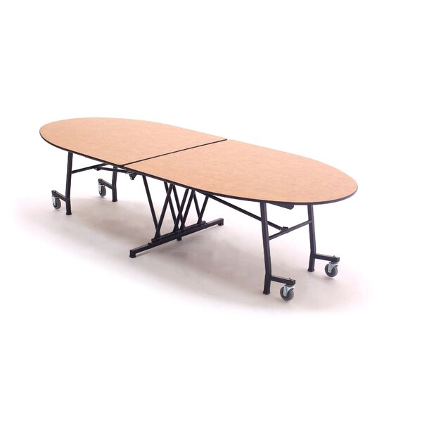121 Elliptical Cafeteria Table by AmTab Manufactur