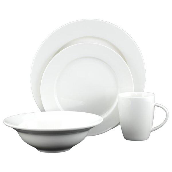 White Tie Caterer 16 Piece Dinnerware Set by Tannex