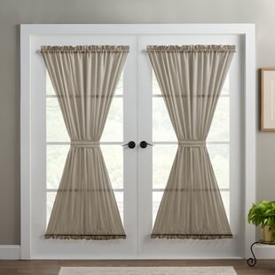 wayfair window treatments gray wayfair basics solid room darkening thermal rod pocket single curtain door panel french curtains