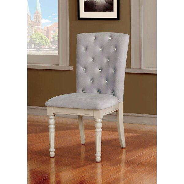 Cartley Button Tufted Upholstered Dining Chair (Set of 2) by Ophelia & Co.