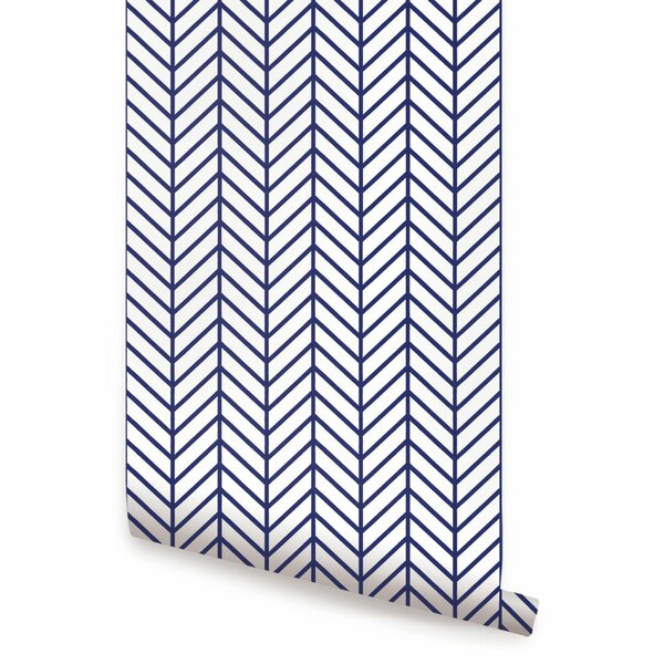 Concord Herringbone 24 Line Peel and Stick Wallpaper Panel by Brayden Studio