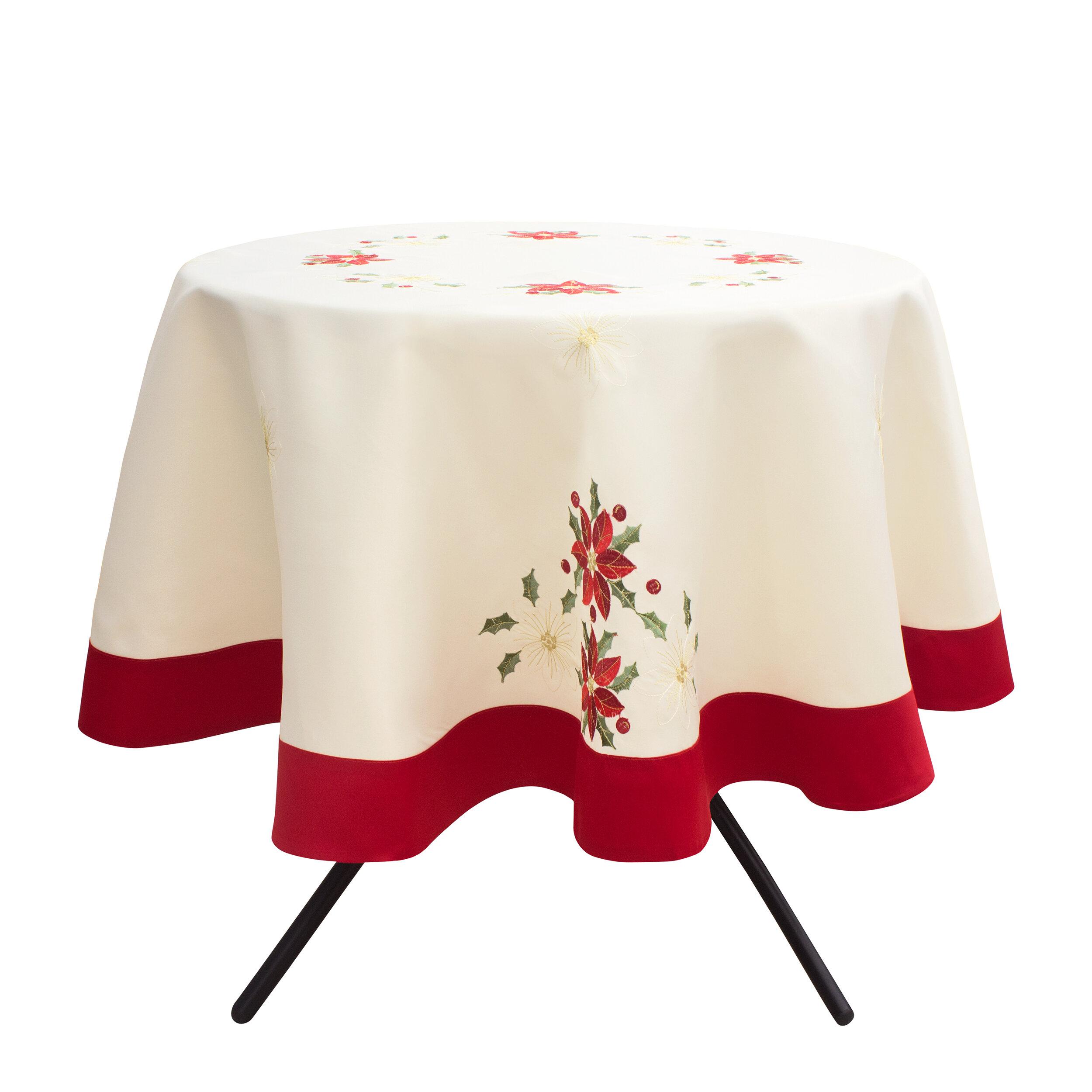 Superbe The Holiday Aisle Holiday Poinsettia Tablecloth   Wayfair