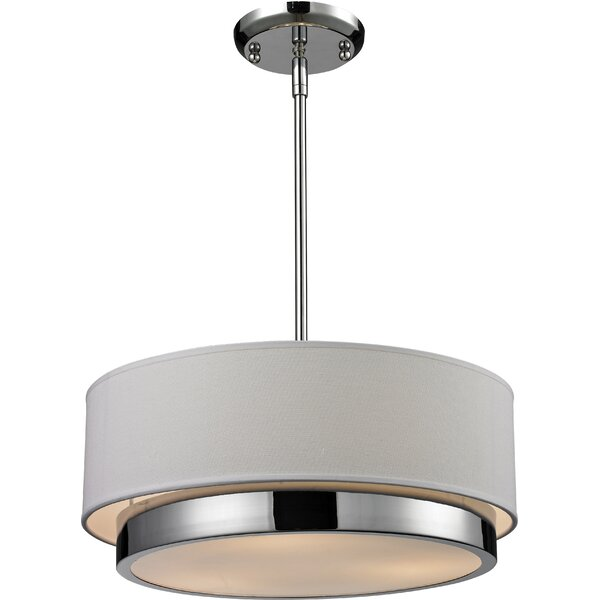 Josue 3-Light Drum Chandelier by Orren Ellis