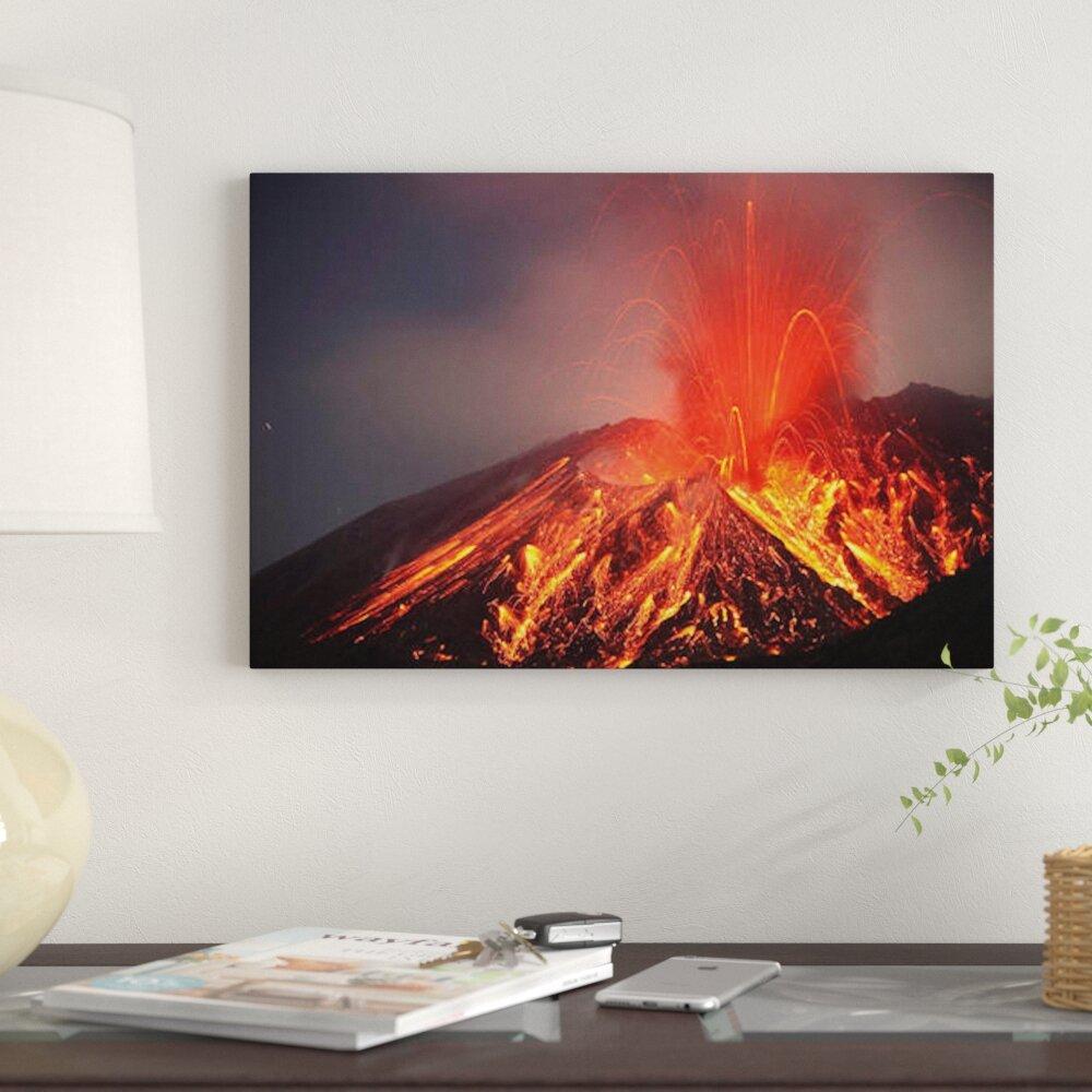 East Urban Home Explosive Vulcanian Eruption Of Lava On