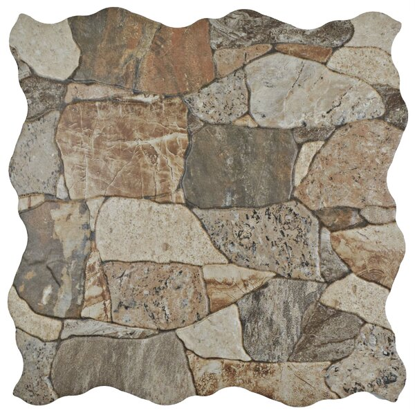 Atticas Random Sized Ceramic Splitface Tile in Brown by EliteTile