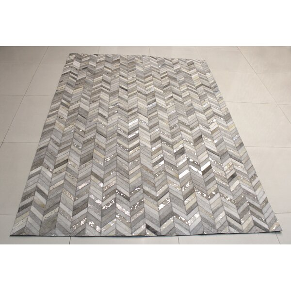 Hide Herring Grey / Silver Area Rug by BIDKhome