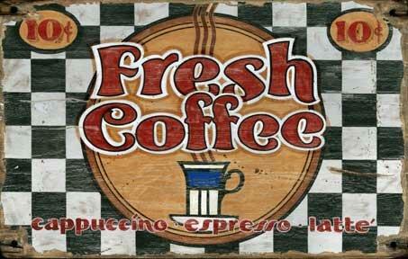 Fresh Coffee Vintage Advertisement Plaque by Winston Porter