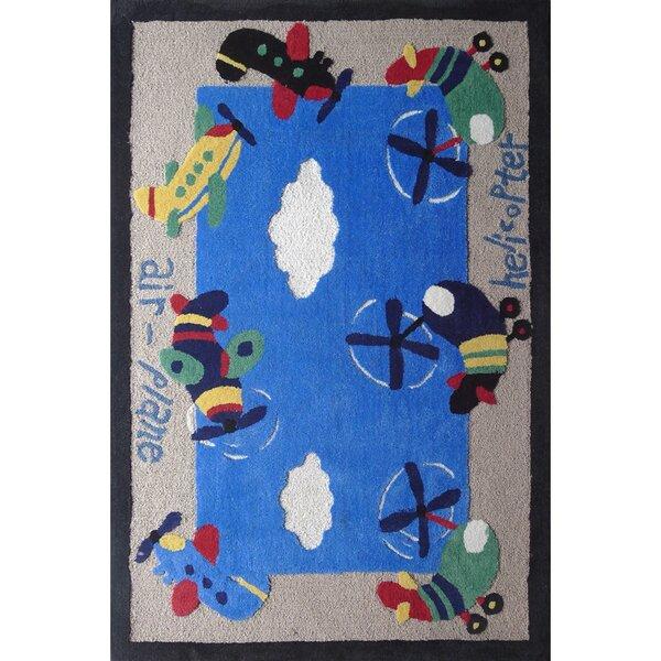 Spurling Air Plane Blue Children's Area Rug