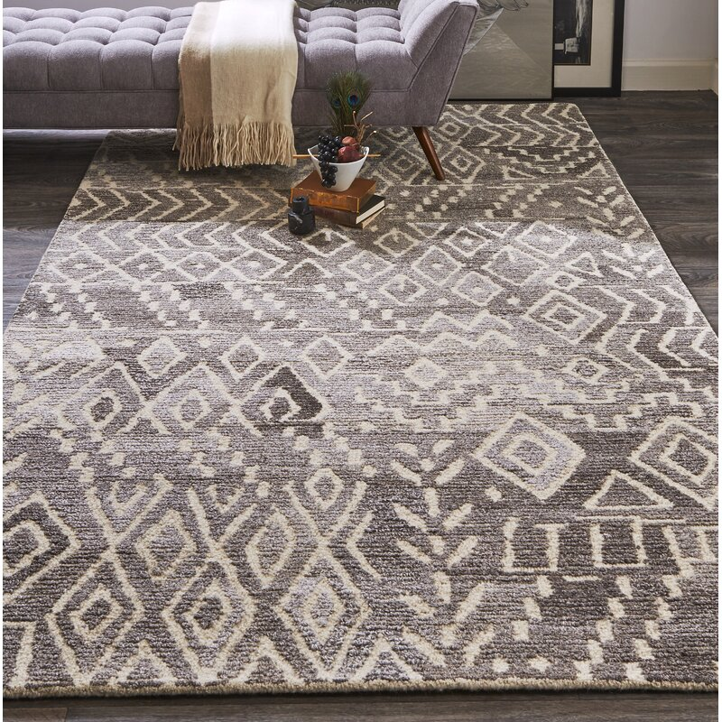 Chulmleigh Wool Taupe/Natural Area Rug & Reviews