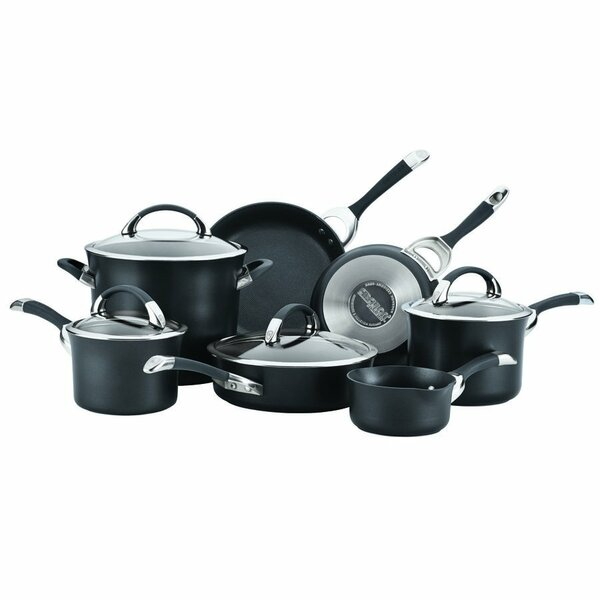 Symmetry Hard Anodized Non-Stick 11 Piece Cookware Set by Circulon