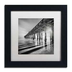 Pier and Shadows by Moises Levy Framed Photographic Print by Trademark Fine Art
