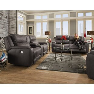 Dazzle Reclining Sofa with Console and Reclining Loveseat with Power Headrests