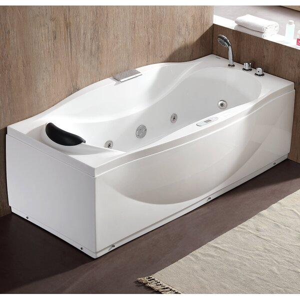 70.5 x 31.9 Freestanding Whirlpool Bathtub by EAGO