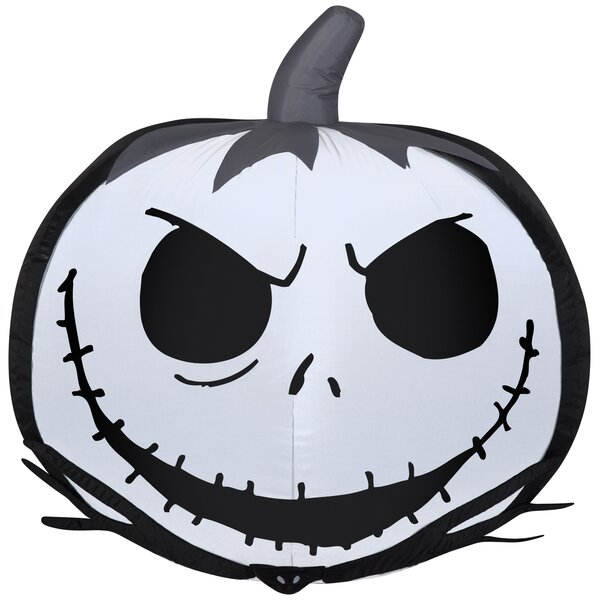 Jack Skellington Face Pumpkin SM Disney Inflatable by The Holiday Aisle