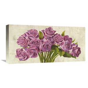'Roses' by Leonardo Sanna Painting Print on Wrapped Canvas by Global Gallery