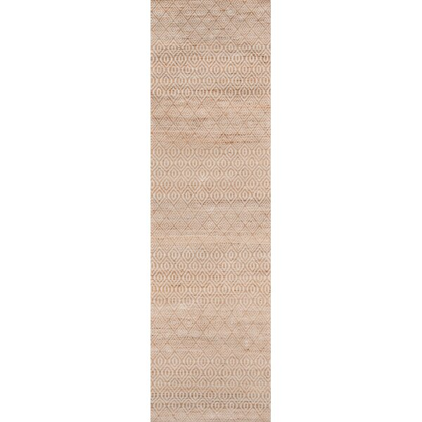 Supriya Hand-Woven Natural Geometric Area Rug by Gracie Oaks