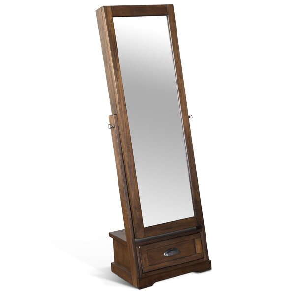 Birney Jewelry Armoire with Mirror by Loon Peak