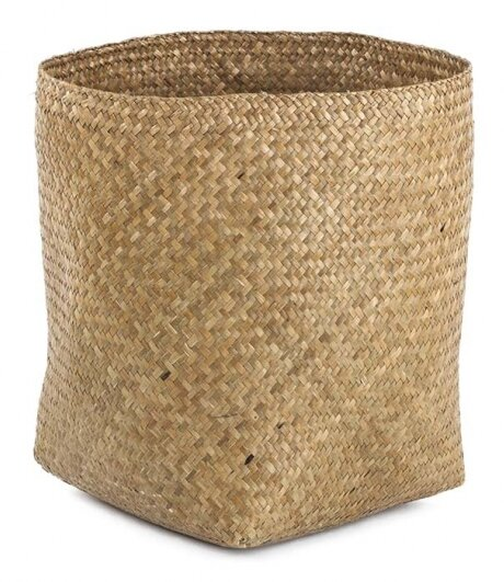 Cyper Bulrush Waste Basket by Design Ideas