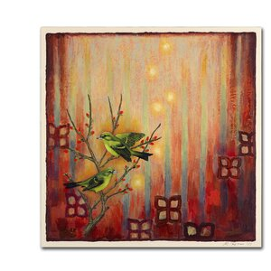 Sunset Birds by Rachel Paxton Painting Print on Wrapped Canvas by Trademark Fine Art