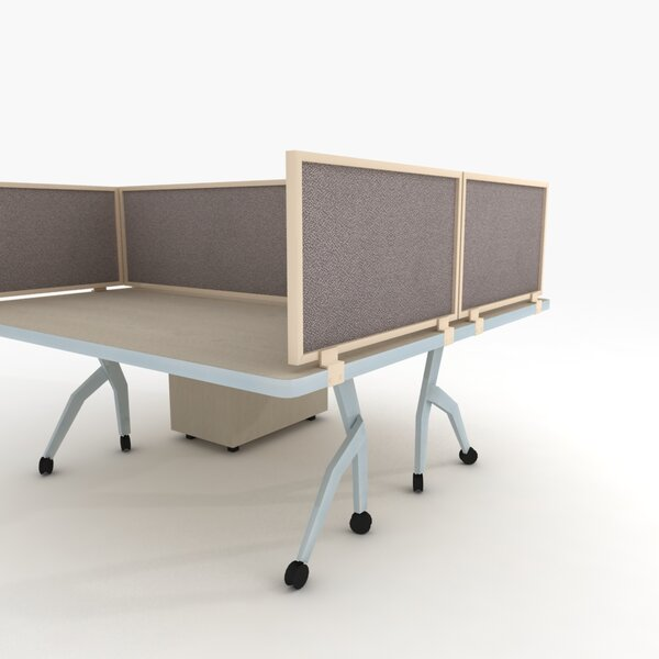 Acoustical Desk Mounted Privacy Panel by OBEX