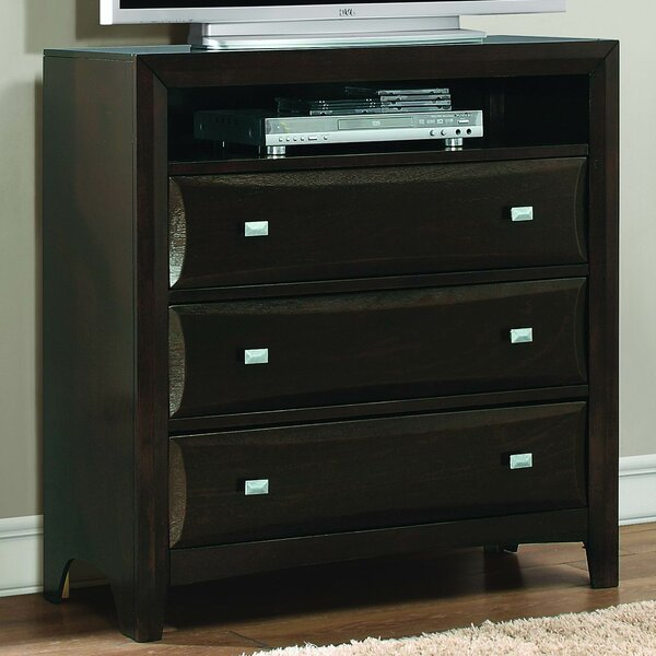 Beck 3 Drawer Media Chest by Brayden Studio