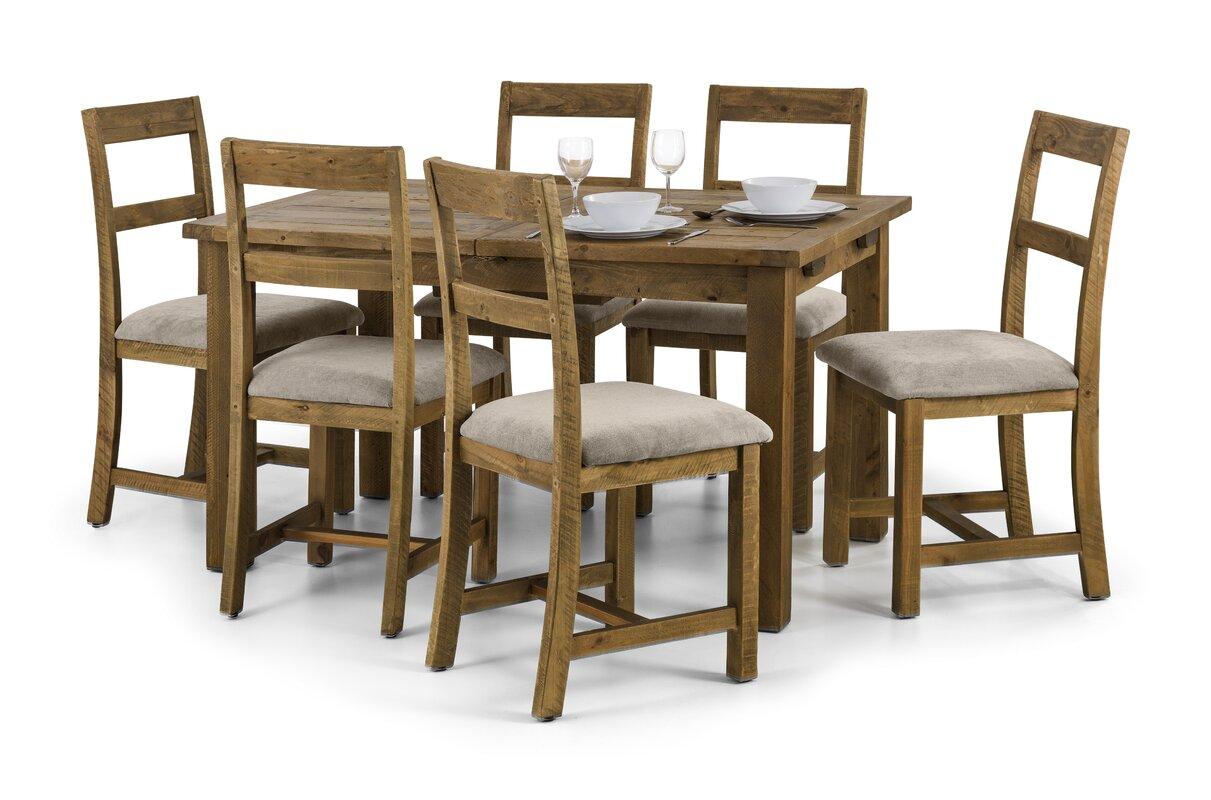 All Home Essgruppe Ashcroft mit ausziehbarem Tisch und Stühlen ...