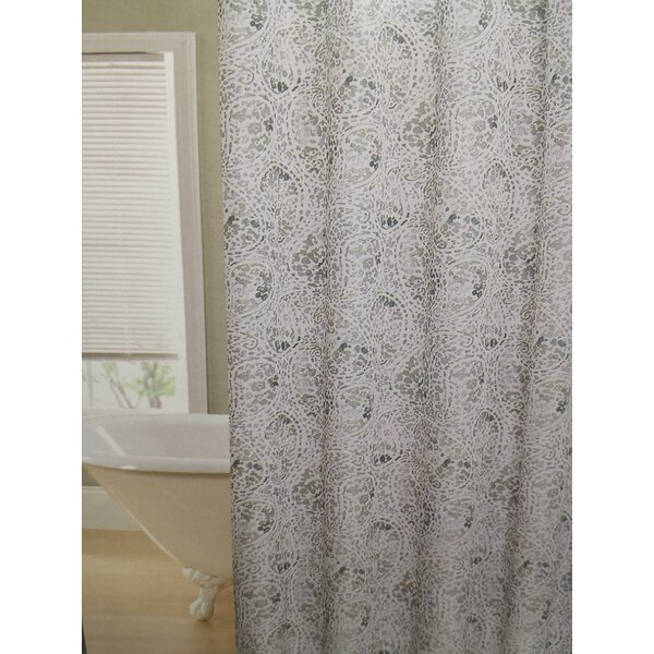 Fort Washington Leopard Swirl Shower Curtain by Wrought Studio