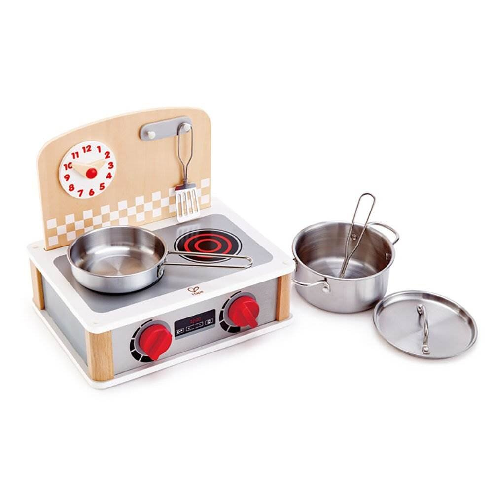 Hape 2 In 1 Pretend Play Tabletop Kitchen Grill Set With Accessories 4 Pack Wayfair