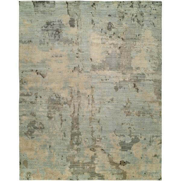 Karlos Hand Knotted Wool Blue Rug