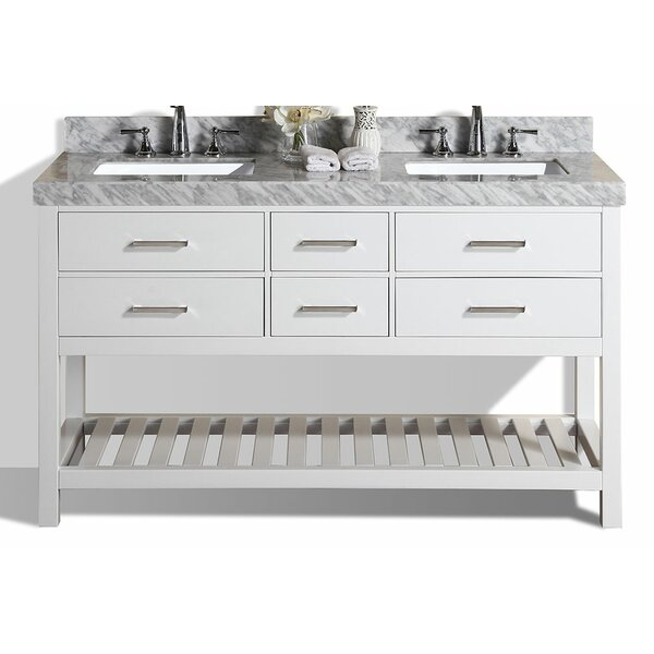 Laguna 61 Double Modern Bathroom Vanity Set by Pacific Collection