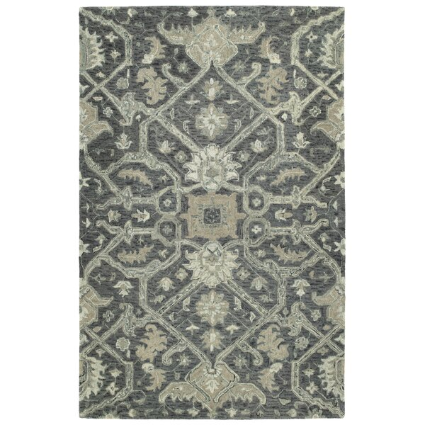 Toshiro Hand Tufted Wool Graphite Area Rug by Bungalow Rose