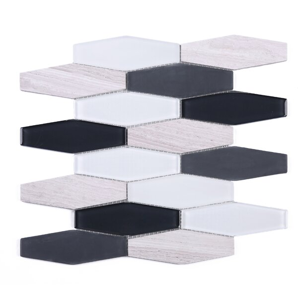 4 x 4 Mosaic Tile in White/Gray by Multile