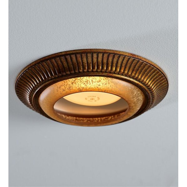 Light Cap Ring with Fluted 6 Recessed Trim by Plow & Hearth
