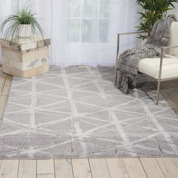Kelsi Silver Area Rug by Kathy Ireland Home