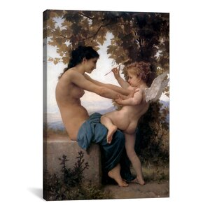 'A Young Girl Defending Herself Against Eros' by William-Adolphe Bouguereau Painting Print on Canvas by iCanvas