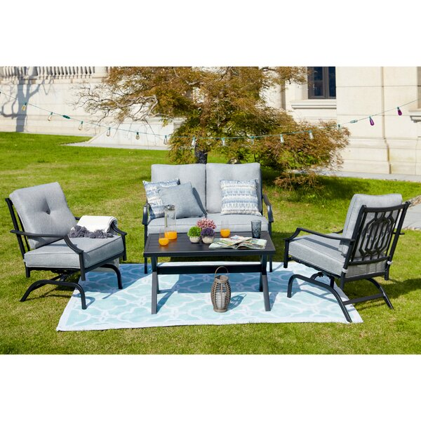 Strader 4 Piece Sofa Seating Group With Cushions By Charlton Home by Charlton Home Best Choices
