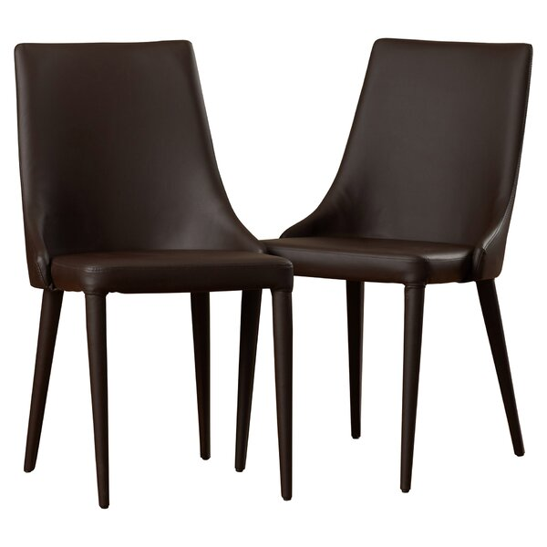 Sherwood Bi-cast Leather Upholstered Dining Chair (Set of 2) by Langley Street