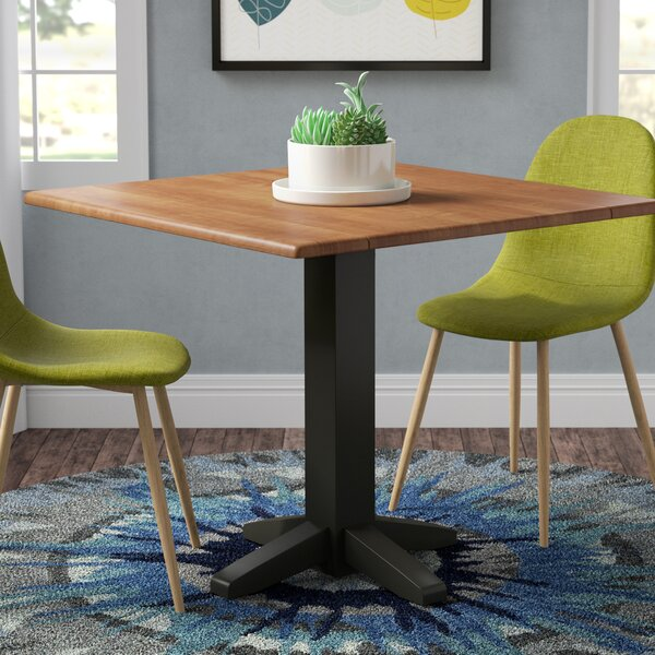 Runkle Square Dual Drop Leaf Solid Wood Dining Table by Latitude Run