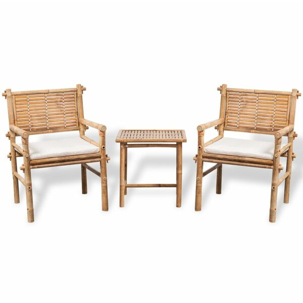 Mack 3 Piece Bistro Set With Cushions By Bay Isle Home