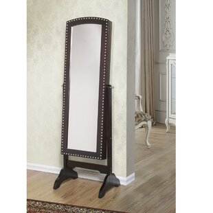 Barrowbrook Free Standing Jewelry Armoire with Mirror by DarHome Co