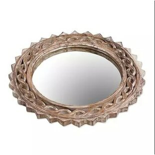 Bloomsbury Market Mcray Eternal Shine Wood Accent Mirror