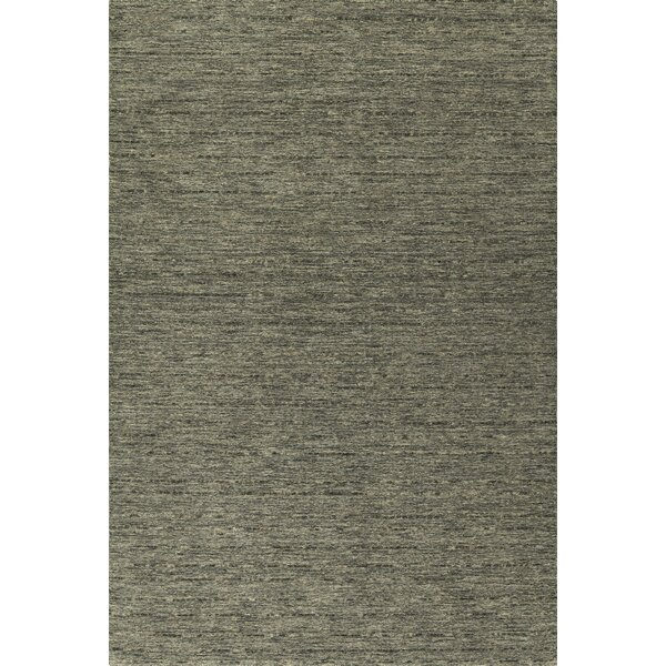 Glenville Hand-Woven Wool Carbon Area Rug by Latitude Run