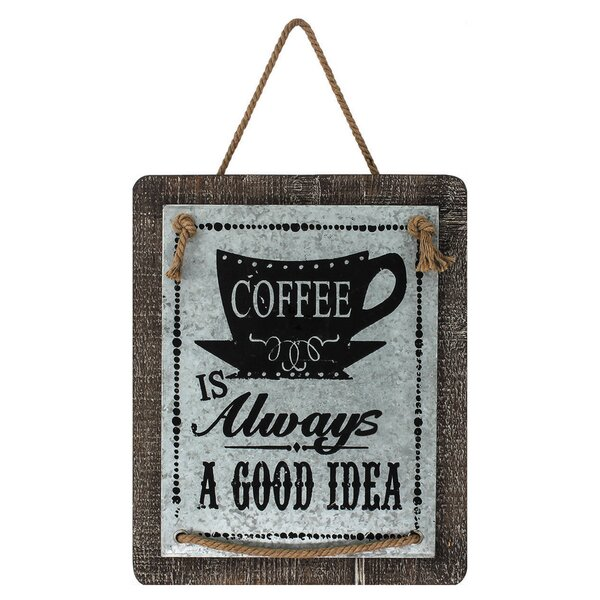 Vintage Rectangle Coffee Sign Wall Décor by Laurel Foundry Modern Farmhouse