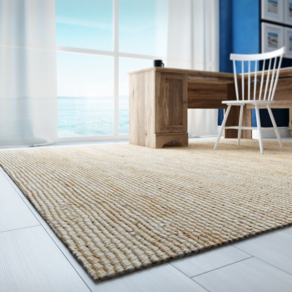 Worley Hand Woven Natural Area Rug by Beachcrest Home