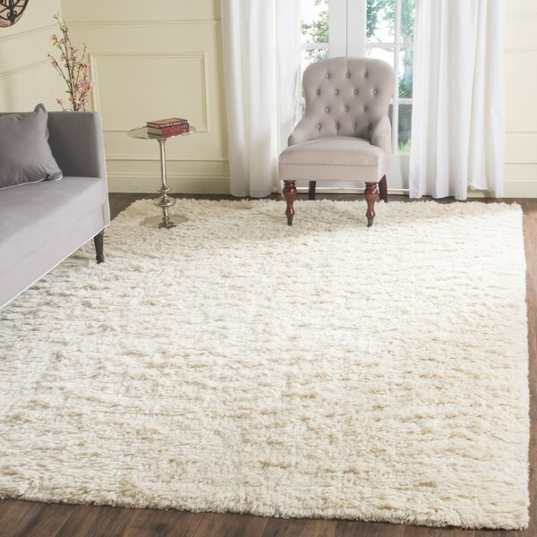 Zulte Hand-Knotted Ivory Area Rug by Mercer41