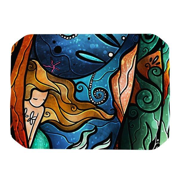 Fathoms Below Mermaid Placemat by KESS InHouse